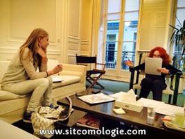 Jéromine Chassériaud et Béatrice Costantini en pleine répétition.