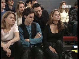Carole dans le rôle de Marie à l'École des passions, aux côtés du méchant Christian et de l'inénarrable Benoît.
