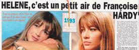 Dès 1993, Hélène est considérée comme la nouvelle Françoise Hardy.
