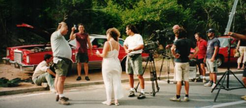 Photo d'un tournage des Vacances de l'Amour, issue des archives personnelles de Fred.