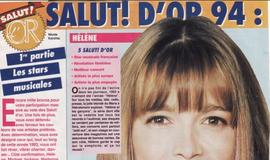 """Hélène Rollès qui gagne un """"Salut d'or"""" au nez (sic) et à la barbe de Michael Jackson... le genre de coups bas qui pousse au suicide."""