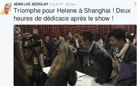 Hélène est une star en Chine, ok ?
