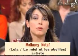 "Mallaury invitée en tant que ""artiste"" chez Delarue."