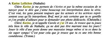 Heureusement, certains fans ont compris que Nathalie était un personnage...